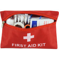 Car Home Travel Portable Medical kit Earthquake Emergency Kit small Drug Bag Small Storage Soft bag Red Canvas bag Factory Sale