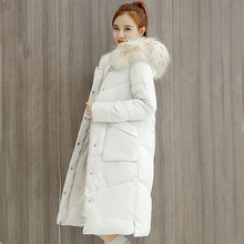 BBWM WOMAN 2018 Real Length Thickening Warm Coat Jacket Winter Down Parka