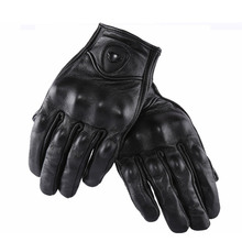 Summer Breathable Motorcycle Riding Black Glove Genuine Leather MOTO Motocross Perforate Guantes Moto GP Gants for Men and Women
