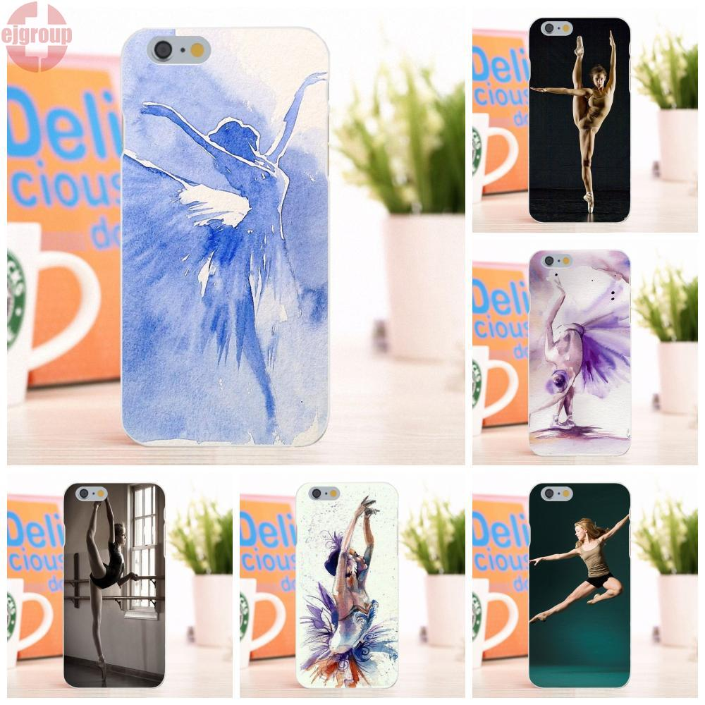 EJGROUP For Apple iPhone 6 6S 4.7 inch Soft TPU Silicon Live Love Phone Ballet Girl Cool Sexy Woman