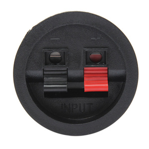 Image 2 - LEORY 2 Pcs Speaker Terminal Board 2 Way Binding Post Terminal Cup Round Spring Clip