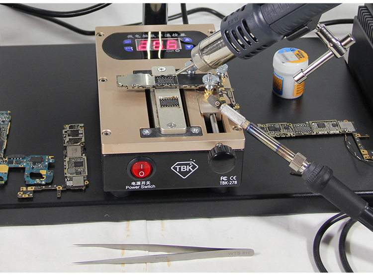 TBK-278 2 In 1 Mobile Phone Screen LCD Frame Remove Separate Chip Repair Tool Machine For IPhone