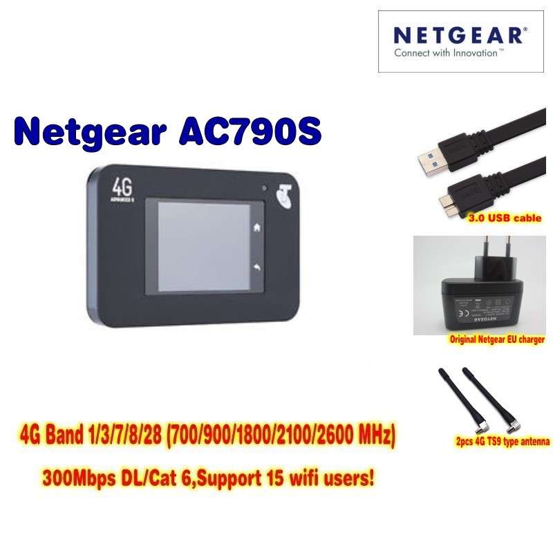 все цены на Unlocked Netgear Aircard 790s (AC790S) 300Mbps 4G Mobile Hotspot wifi Router (4G in Asia, Africa,America,Europe) онлайн