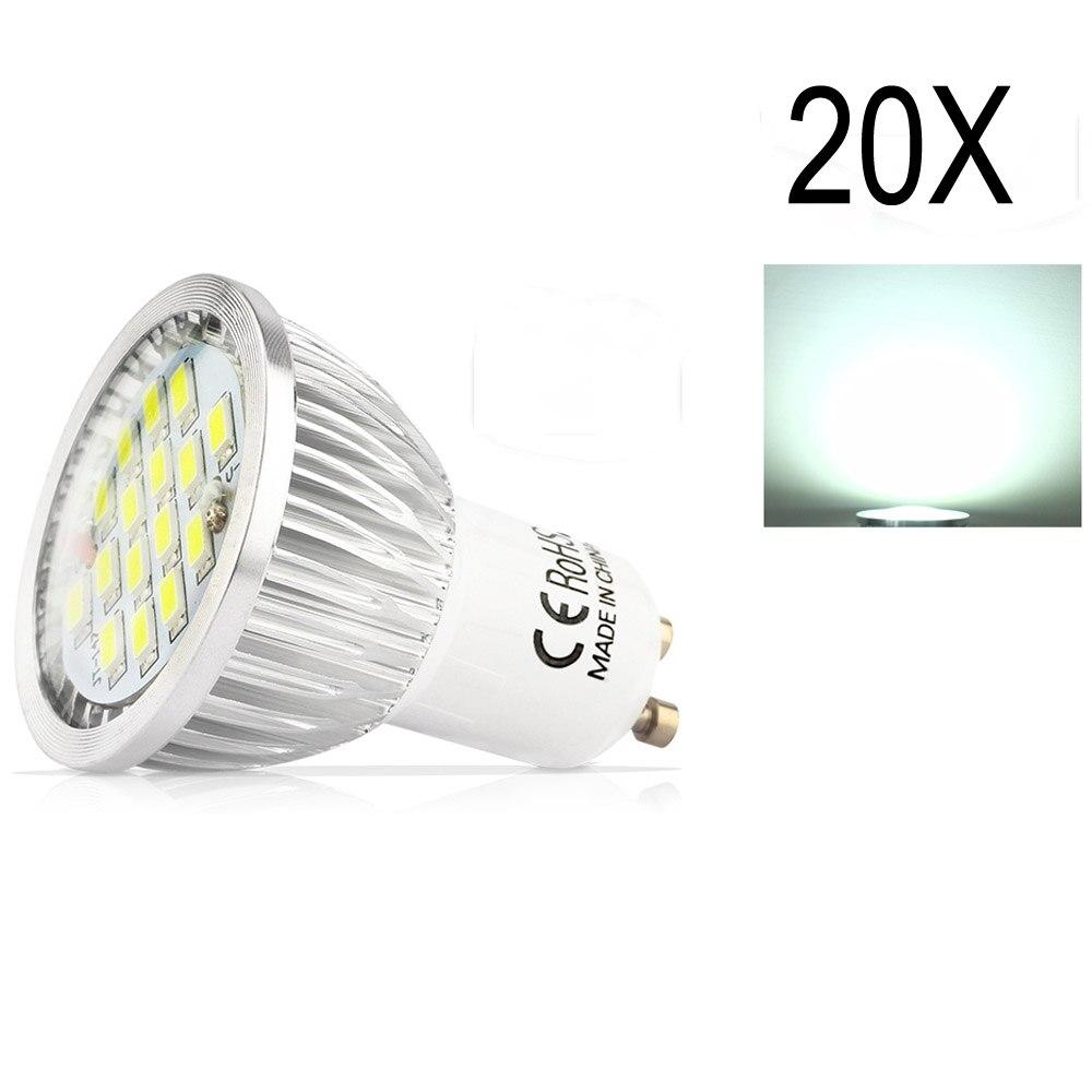 20X GU10 5.5 W SMD 5730 Haute Assurance De La Qualité LED Led Spotlight ampoules Blanc Chaud Froid Blanc AC85-265VLED Spot En Aluminium lampe tasse