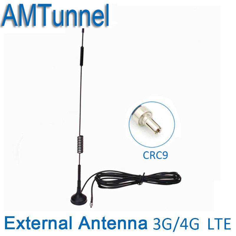 4G 7-8 dbi LTE Antenna CRC9 Male magnetic RG174 3M for Huawei E3372 E353 E872