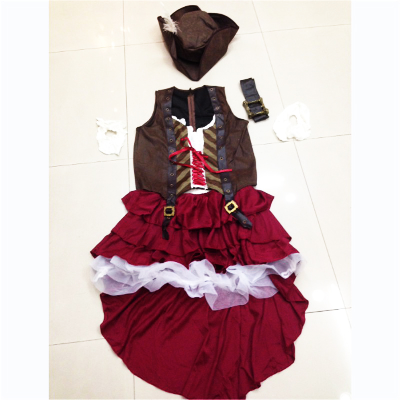 2018 New Sexy Women Pirate Costume Halloween Fancy Party Dress Carnival Perfor mance high quality Adult Pirate Cosplay Costumes in Movie TV costumes from Novelty Special Use