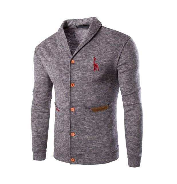 2017 nova primavera moda casual cor sólida camisola dos homens um casaco cardigan sweater 3 cores disponível M-2XL (asian tamanho)