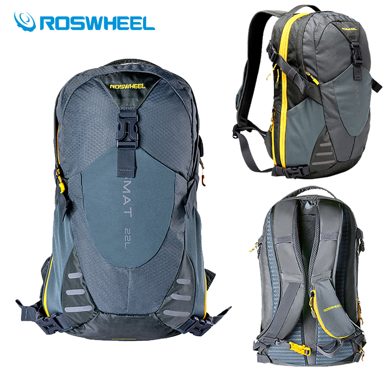 Roswheel 18L Outdoor Sport Bag + 2L Water Bag Bladder Camping Cycling Hiking Backpack Travel Rucksack Camelback & Backpack Cover 12l cycling road backpack bike mountaineering rucksack water proof nylon running outdoor ultralight travel water bag helmet bag
