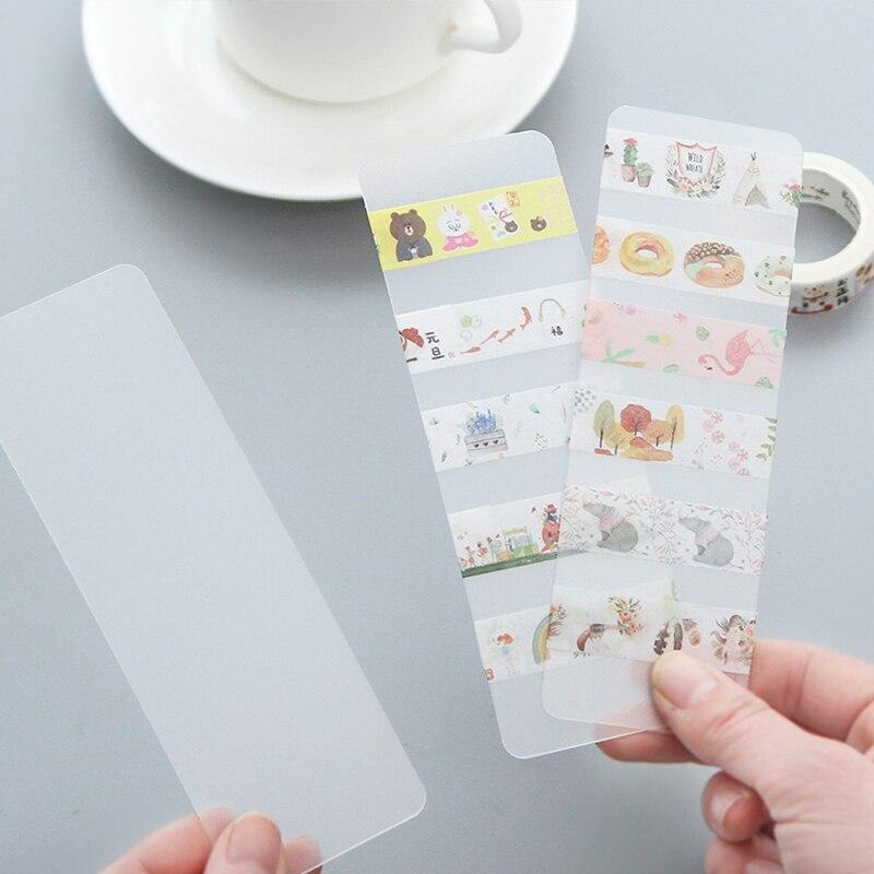 NOVERTY 4pcs/lot Creative Plastic Transparent School Pen Washi Tape Dispenser Washi Tape Holder Office Stationery Supplies 02405
