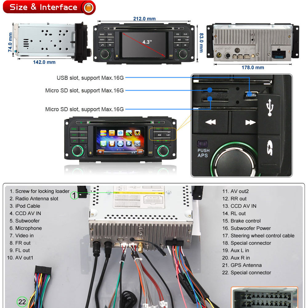 Buy Free Map Autoradio Dvd Gps Navigation Stereo Bt 03 04 05 Jeep Wrangler Wiring Harness Cd Description Ql Jep816