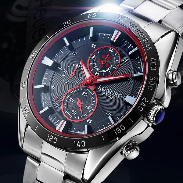 LONGBO Stainless Steel Quartz Watch Men Top Brand Luxury Famous Fashion Wrist Watch Male Clock for Men Hodinky Relogio Masculino longbo luxury brand fashion quartz watch blue leather strap women wrist watches famous female hodinky clock reloj mujer gift