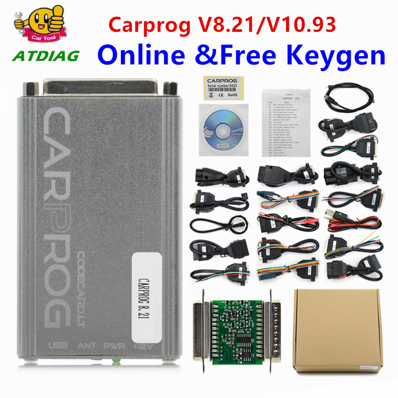Free Keygen Online Carprog FW V8.21 V10.93 Full Set Auto Repair Tool Car Prog 8.21/10.93/10.05 Airbag/Radio/Dash/ECU Programmer(China)