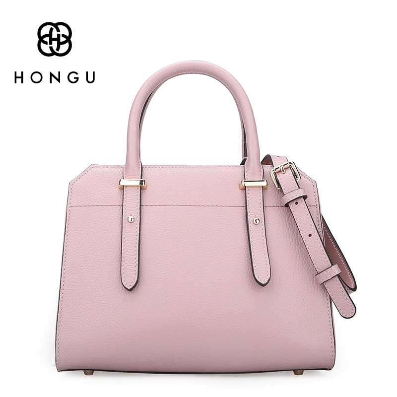 HONGU Designer Genuine Leather Bags Ladies Famous Brand Women Handbags High Quality Tote Bag for Women Fashion Hobos Bolsos real genuine leather women s handbags luxury handbags women bags designer famous brands tote bag high quality ladies hand bags