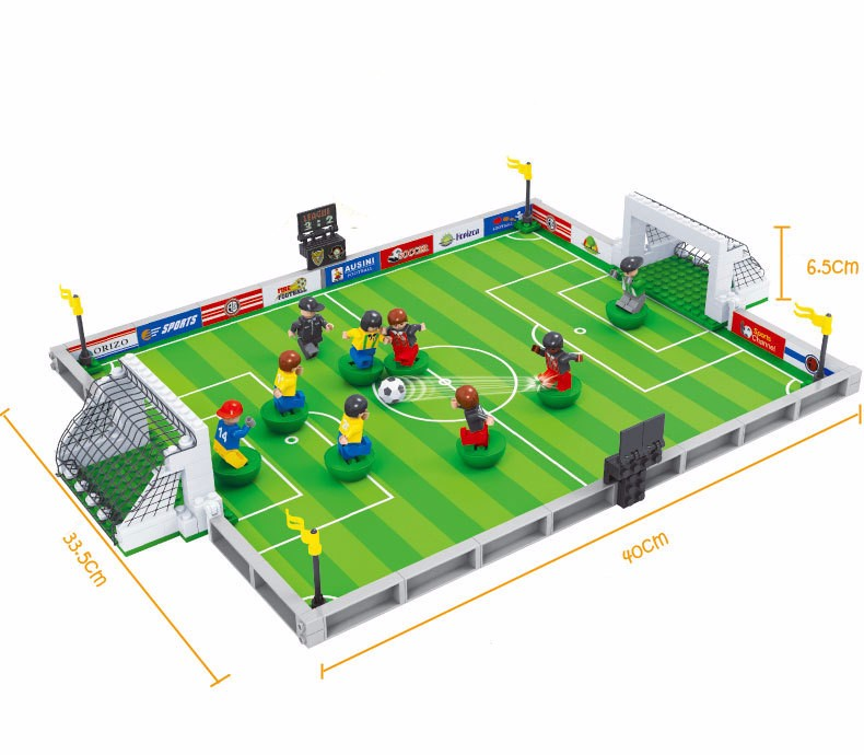 Model building kits compatible with lego city football series 3D blocks Educational model building toys hobbies for children model building blocks architecture creator series the louvre paris compatible with lego city hobbies for children toys new