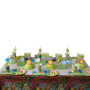 Image 5 - Kleine Zeemeermin Eenhoorn Partij Tafelkleed Kids Verjaardagsfeestje Decoratie Tafel Dekken Jungle Feestartikelen 1st Verjaardag Decor