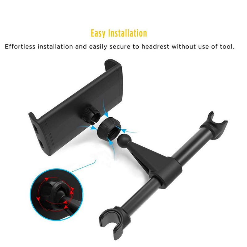 Universal Car Rear Pillow Phone Holder Tablet Stand Back Seat Headrest  Mount Bracket For iPhone X/8 iPad Mini Tablet 4-11 inch
