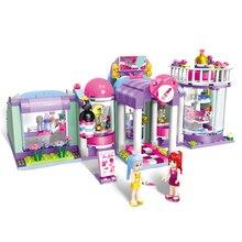 Enlighten Building Block Girls Friends Shirley's Beauty SPA Shop Figures 485pcs Educational Bricks Toy For Girl Children Gifts