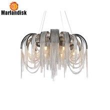 Современный простой хромированный алюминиевый подвесной светильник в скандинавском стиле, подвесной светильник для гостиной, ресторана, спальни, столовой