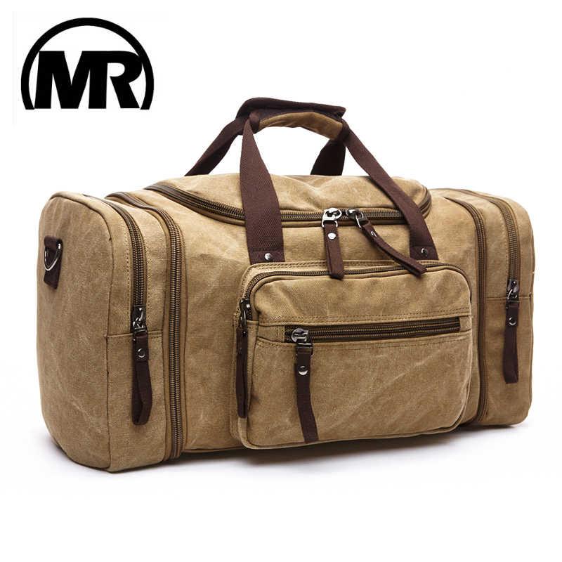 b6030773e2a5 MARKROYAL Мягкий Холст для мужчин дорожные сумки вести чемодан сумки  вещевой мешок Сумка вместительная сумка для