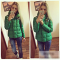 2015 New Slim Women Super Warm Cotton Parkas Jacket Coat  Fashion Stand Collar Beading Womens Short Padded  Colthing