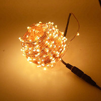 DC 24V 30m 300 LED Outdoor Christmas Fairy Lights Warm White Copper Wire LED String Lights