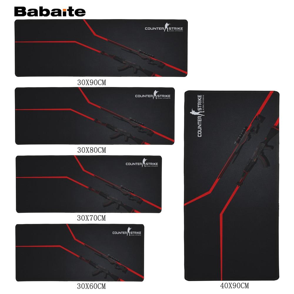 все цены на Babaite Rubber Anti-slip Counter Strike Mice Mat DIY Design Pattern Computer Mousepad Gaming Mouse Pad Cs Go Design Rubber Mats