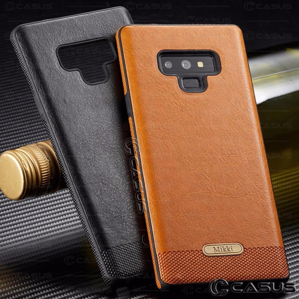 For Samsung Galaxy Note 9 8  Case Slim Luxury PU Leather Thin  Case Cover For Samsung Galaxy S9 S8 Plus S7 Edge Case