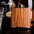 Mealivos 6 унц. деревянный завернутый 304 нержавеющей стали хип колбу виски ликер кувшин водка алкоголь бутылка подарок dinkware jagermeister
