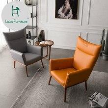 Луи Мода стул для гостиной твердой древесины один диван досуг Тигр настоящий ковбой ленивый Северной Европы Простой гостиной балкон