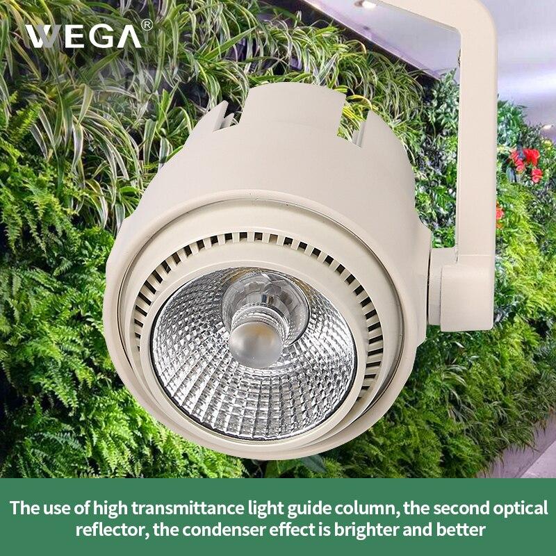 WEGA Plant Growth Light 5970K 30W Plant Wall Flower Indoor Flower Vegetable Full Spectrum LED Track Lamp Plant Fill Light