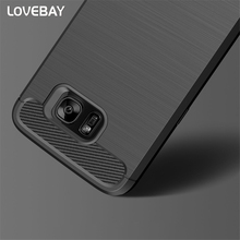 Carbon Fiber Shockproof Phone Case Samsung Galaxy S6 S6 Edge S7 S7 Edge S8 S8 Plus