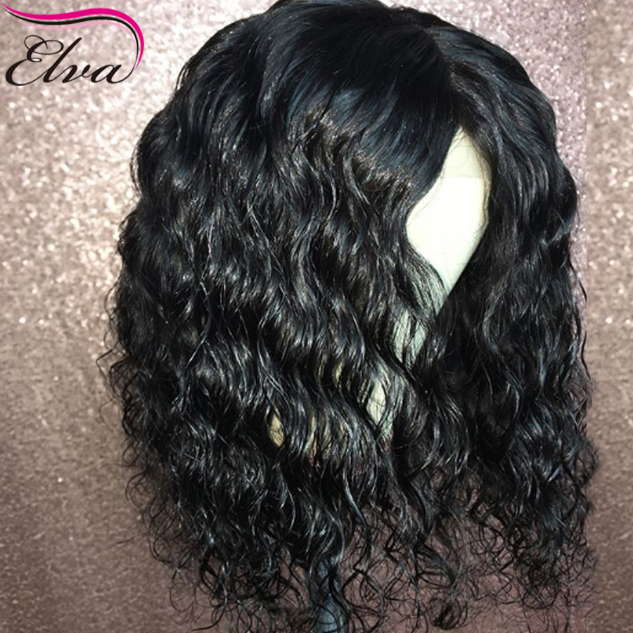 Elva Hair Short Lace Front Human Hair Wigs With Baby Hair Brazilian Remy Glueless Lace Front Wig Pre Plucked For Black Women