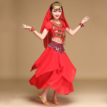b96b8086a WUYANGTONGDA Girls belly dance costumes for kids 3-4-5-6-7piece indian  clothes sky