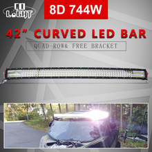 купить CO LIGHT 8D Offroad LED Bar Curved 42 inch 744W LED Work Light Bar Combo for Jeep Truck UAZ SUV Boat 4x4 ATV Automobile 12V 24V по цене 9895.76 рублей