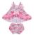 Bebê conjunto roupa da menina flores baby dress cotton cute baby sling bat roupas de verão bebê recém-nascido meninas macacões
