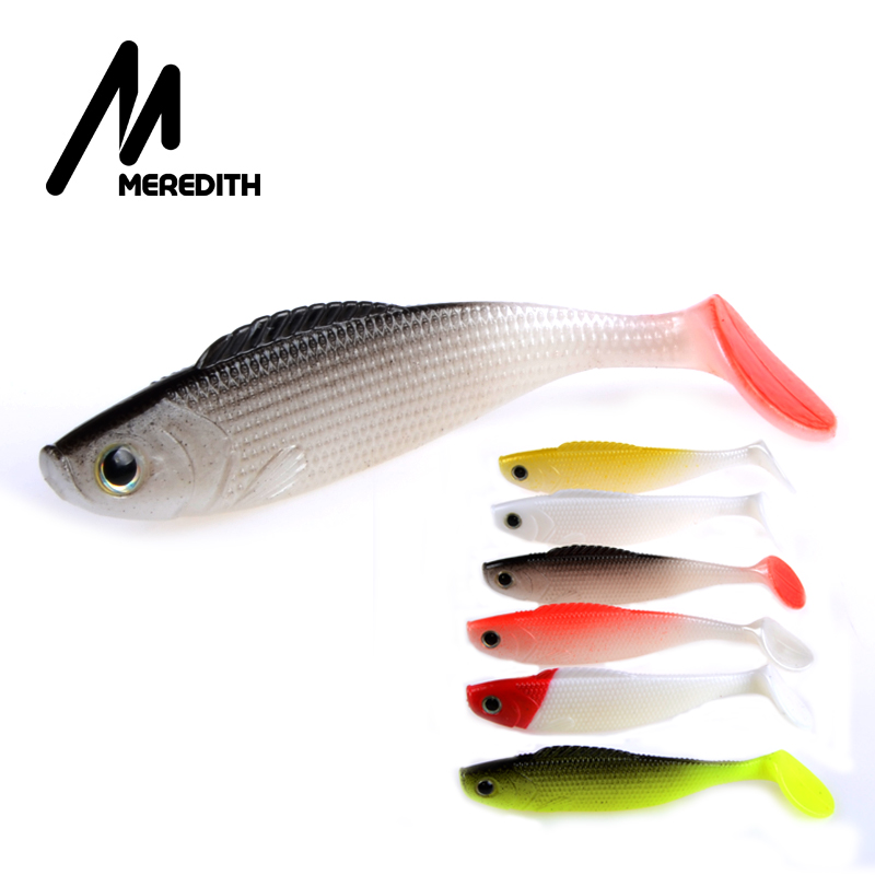 MEREDITH Trout 3D Fish Lifelike Lures 10PCS/lot 13g/110mm Hot Model Fishing Soft Lures Free Shipping