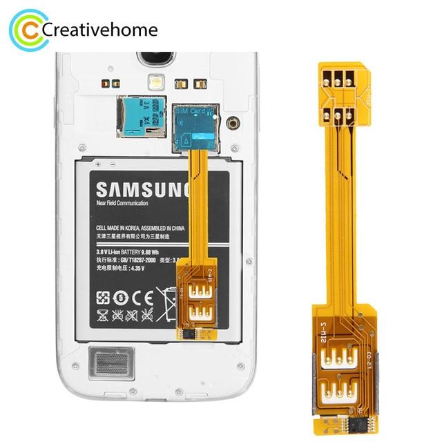 Adapter Für Sim Karte.Us 8 46 Dual Sim Karte Adapter Für Samsung Galaxy S5 I9600 S4 I9500 S3 I9300 Note3 N9000 Note2 N7100 Mega 6 3 I9200 In Dual Sim Karte Adapter Für
