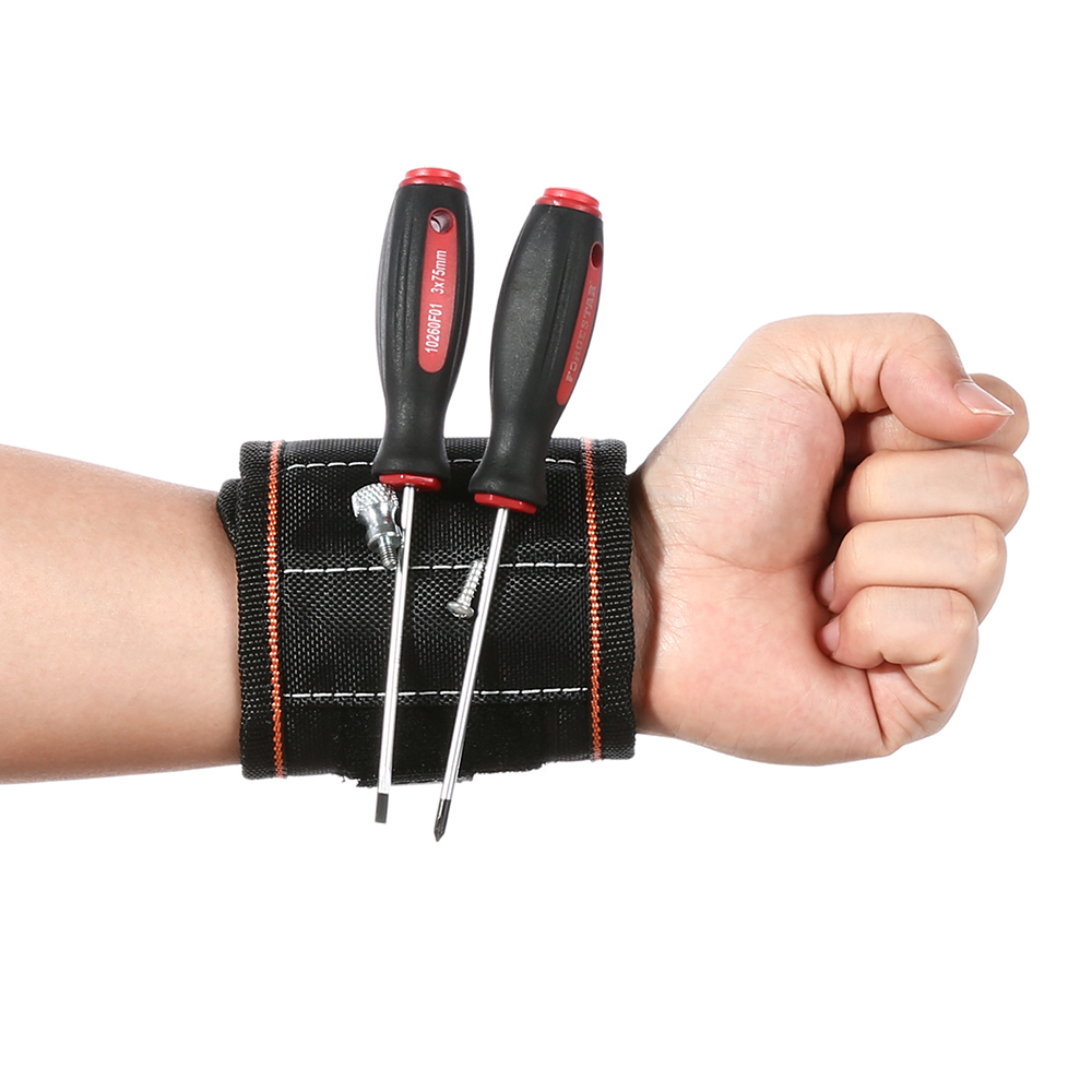 4 Color Magnetic Wristband Pocket Tool Belt Pouch Bag Screws Holder Holding Tools Practical strong Chuck wrist Toolkit td new design electricians waist pocket tool belt pouch bag screwdriver carry case holder outdoor working free shipping