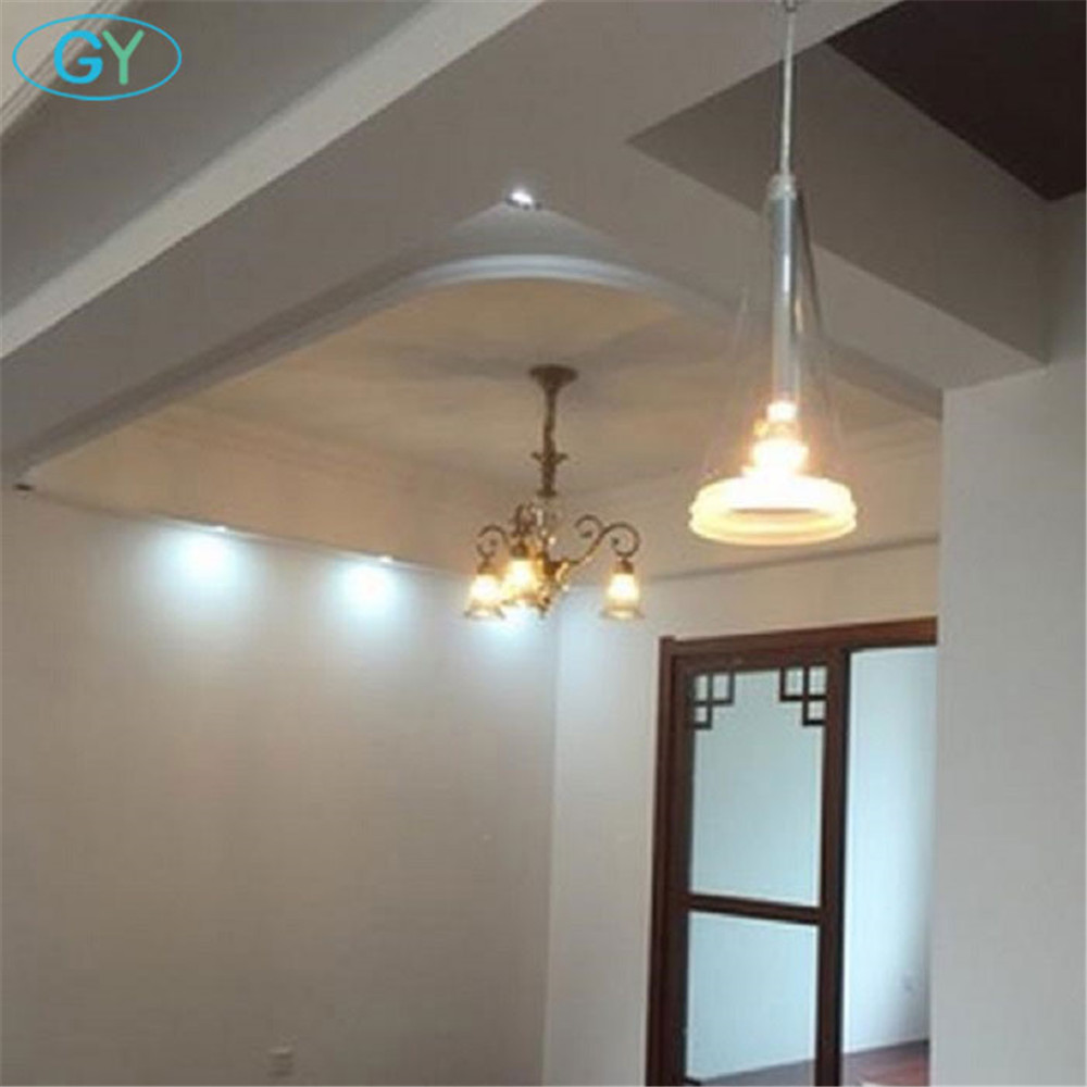 AC220-240V D16*32cm Clear glass lampshade cone taper pendant lights Modern conus lamps for dining room restaurant home armatuur