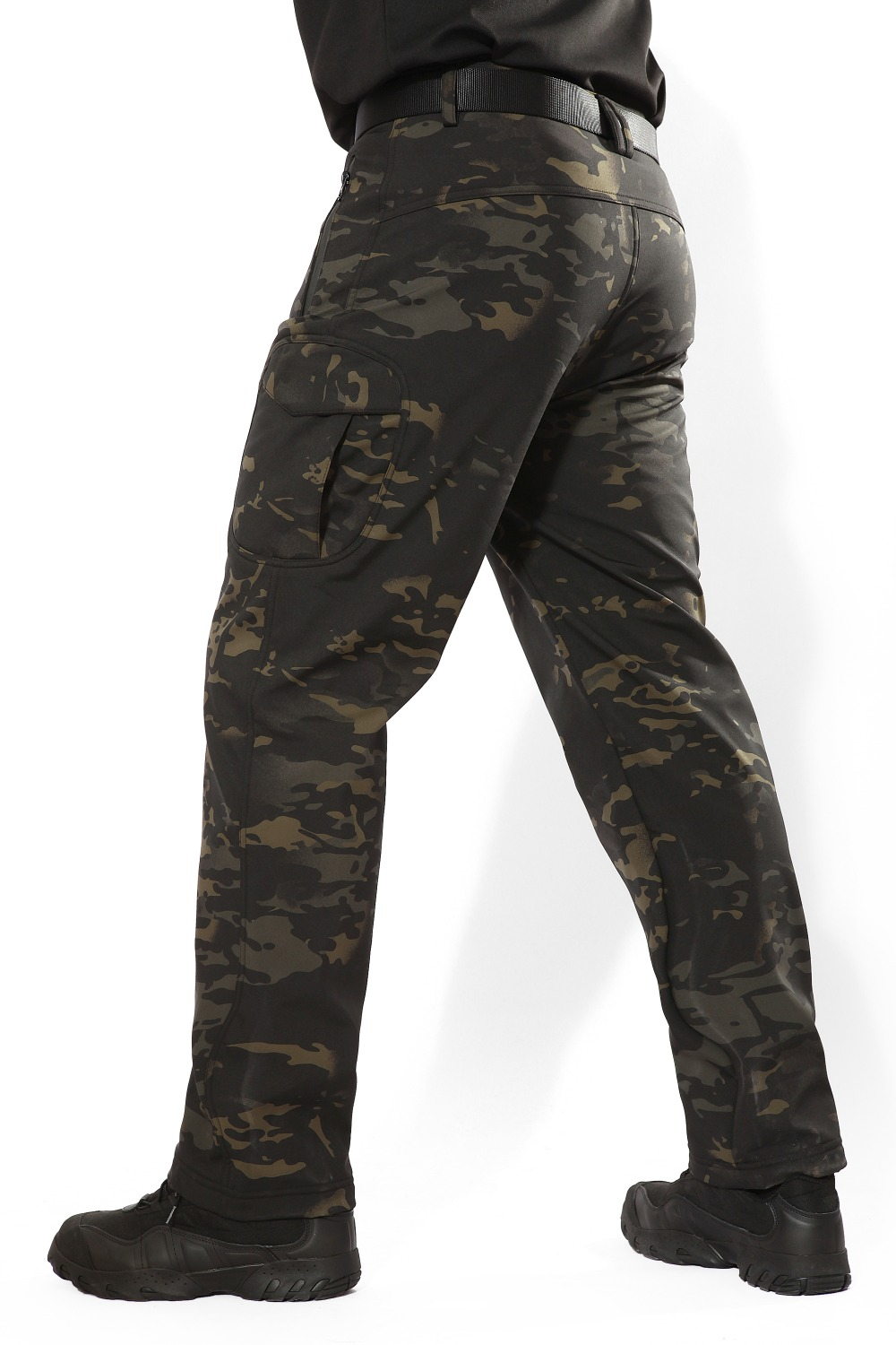 MEGE Soft Shell Tactical Camouflage Pants Men Combat Waterproof Military Cargo Warm Fleece Camo Winter Warm Army Modis Trousers 18