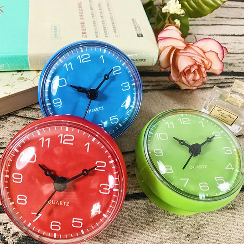 a buon mercato orologio impermeabile doccia mini orologio da parete orologio da bagno di aspirazione cucina