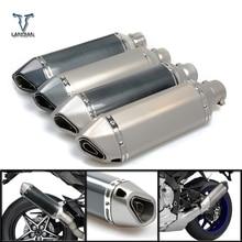אופנוע כניסת 51mm עמעם פליטת צינור עם/36mm מחבר עבור הונדה VFR 750 800 1200 F VFR750 VFR800 VFR1200
