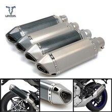 Motosiklet Giriş 51mm egzoz susturucu boru/36mm konnektör Honda VFR 750 800 1200 F VFR750 VFR800 VFR1200