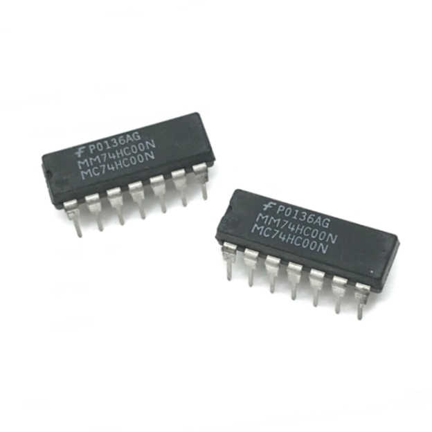 10 adet/grup MM74HC00N MC74HC00N DIP14 MM 74HC00N IC GATE NAND 4CH 2-INP 14DIP MM74HC00-N