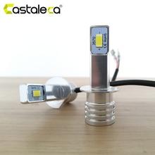 Castaleca 2X H1 светодиодный H4 H7 светильник ры передние противотуманные фары H3 H11 9005 9006 фары указателя поворота дальнего света Canbus 3000Lm автостайлинг