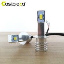 Castaleca 2X H1 LED H4 H7 araba ışıkları ön sis lambası H3 H11 9005 9006 sürüş dönüş sinyal ışığı ampuller Canbus 3000Lm araba Styling