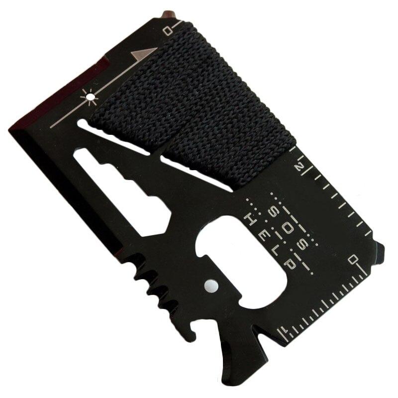Cuchillo de tarjeta de crédito de acero inoxidable de bolsillo Mini deportes al aire libre Camping caza equipo Defensa supervivencia seguridad EDC Multi herramientas