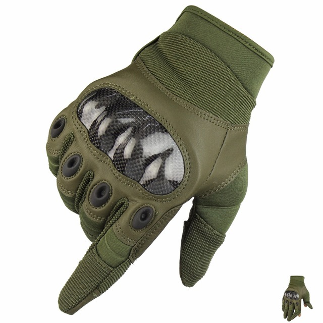 Military Tactical Army Sports Airsoft Paintball Shooting Full Finger Combat Carbon Hard Knuckle Protective training Gloves