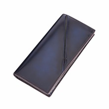 TERSE_Large capacity handmade long wallet men genuine leather high quality fashion purse with coin pocket/ card holder OEM ODM
