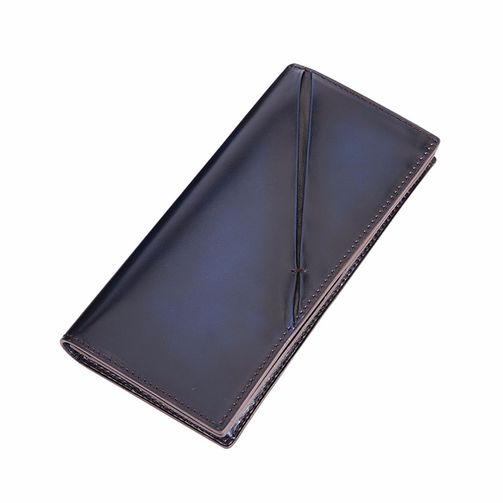 TERSE_Large capacity handmade long wallet men genuine leather high quality fashion purse with coin pocket/ card holder OEM ODM  new sale fashion genuine leather business trends men purse top quality wallet coin pocket purse card free shipping